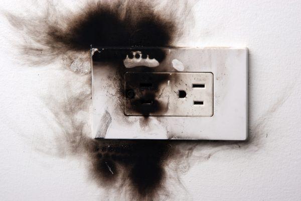 heat damaged outlet