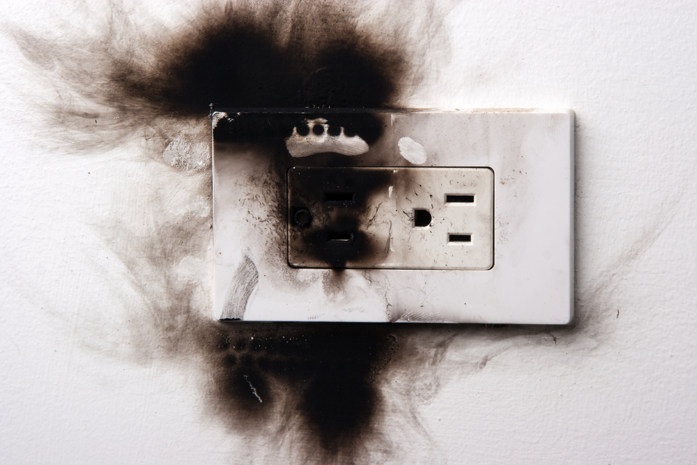 heat damaged outlet
